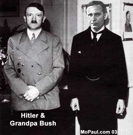 hitler and bush