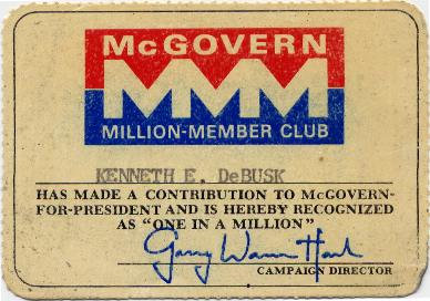 million members for mcgovern club card